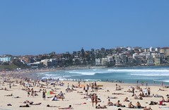 New Zealand and Australia Landscapes (edledgard) Tags: people hot sun bondibeach beach sydney