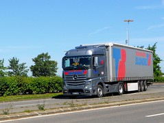 """MERCEDES Actros Mp4 Semi-Remorque Tautliner """"Transports BLONDEL"""" (xavnco2) Tags: truck mercedes lorry camion mercedesbenz trucks mp4 semitrailer autocarro actros tautliner semiremorque curtainside"""
