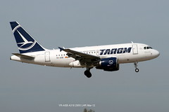YR-ASB A318 2955 LHR 25-Mar-12 (K West1) Tags: lhr a318 2955 yrasb 25mar12
