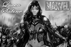 New Marvel Movie Base On The Persona Of Queen Sabine (bleencash) Tags: new game celebrity art film movie star fight famous cartoon goddess games queen hollywood hero demon celebrities marvel sabine comicon caracter mondestin sabinemondestin queensabine