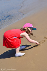 Name In sand (karllaundon) Tags: family sea summer sun cute beach fun happy seaside day child laugh northeast rockpool redcar