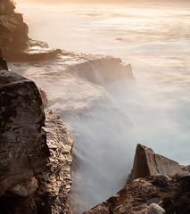 pointed rock in soft water (eanwe) Tags: ocean longexposure water rock waves objects australia newsouthwales maroubra