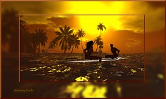 HS_K_045 (hideaway.studio) Tags: ocean life sunset sea tree silhouette sunrise surf couples surfing palm sl secondlife virtual second sil