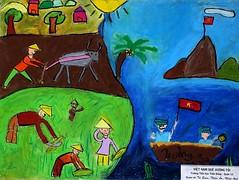 Exposition de Dessins dEnfants Beaux Arts Saigon Vietnam, Childrens drawing Fine Art E
