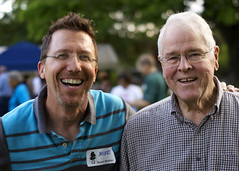 Board member Mike Spangler and former board member George Shafer