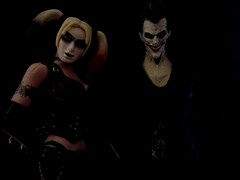 Harley: It'd be a shame to get blood all over my nice new outfit. (FOXHOUNDS_FINEST) Tags: actionfigure joker harleyquinn arkhamcity