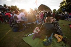 Festival feeling (peckhamryecrow) Tags: sunset england london picnic unitedkingdom stage hunter wellingtonboots 16mm wellies contrejour catford 2014 timgreen canonef1635mmf28liiusm stdunstanscollege familyassociation peckhamryecrow 125thanniversiary