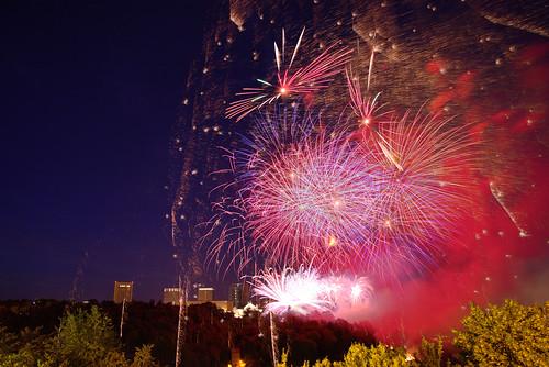 Fireworks illusion