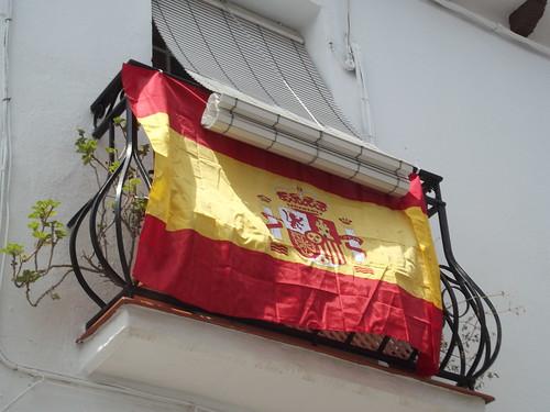 Calle de la Charcones, Mijas - Spanish flag