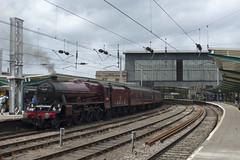 45699 Galatea at Carlisle. 3rd July 2014 (MitchellTurnbull) Tags: london citadel jubilee cathedrals july scottish railway express carlisle 3rd midland the 2014 lms 460 galatea 45699 1z28