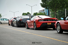 Ferrari Line Up (Matthew Britton) Tags: auto california city red black car club silver matt nikon matthew images ferrari exotic topless kansas nikkor mb scuderia v8 britton f430 gtb v12 gtc 599 3330 d300s