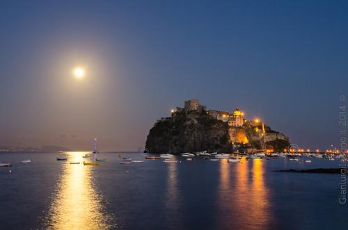 Luna piena al castello aragonese - Ischia 2014