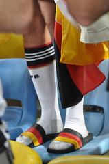 Deutschland-Sandalen und weie DFB-Strmpfe (wuestenigel) Tags: socks und legs socken beine weise chappal dfbstrmpfe deutschlandsandalen