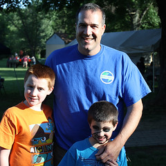 Outdoor School in Horsham's Dave DeRosa, with his sons