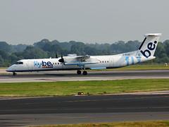 G-ECOD DHC-8Q 402 Flybe (PlanecrazyUK) Tags: man manchester egcc flybe dhc8q402 gecod