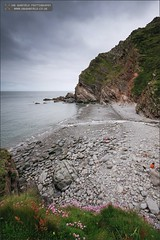 Heddon's Mouth (Ian Garfield - thanks for over 1 Million views!!!!) Tags: uk cliff beach rock mouth ian photography bay coast day stones north pebbles pebble devon valley coastline garfield dull heddon heddons