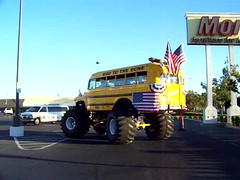 Monster Kool  Bus     (   VIDEO   ) (Bob the Real Deal) Tags: 4x4 fresno rides schoolbus monstertruck kodakz712is koolbusrides monsterschoolbus monsterkoolbus badetothebone 1956chevrolet4500 chevy4500 monsterkoolbuscom