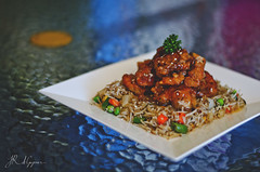 Honey Chicken and Fried Rice (Jeremy_DxG) Tags: food chicken cooking dinner lunch photography lemon yum rice chinese tasty delicious crispy honey fried foodphotography