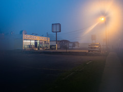 Classic Coin Laundry (Podsville) Tags: summer fog unitedstates michigan lansing august laundry laundromat