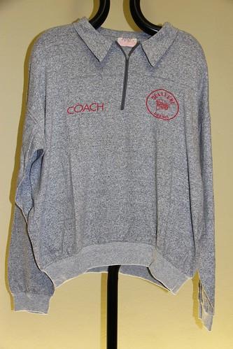 Felpa grigia coach Collegno Basket