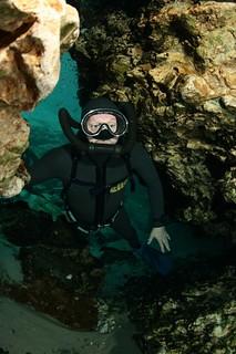 Vintage scuba diver.