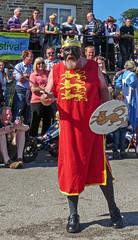 Bradshaw Mummers - King Richard (Tim Green aka atoach) Tags: bridge festival yorkshire september rush sowerbybridge bearing calderdale sowerby rushbearing
