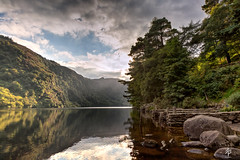 Glendalough  (Week 36 of 52 for 2014) (fearghal breathnach) Tags: trees ireland light mountain lake reflection water canon photography eos shadows glendalough 5d 24mm wicklow 24105 ruleofthirds eos5d 24105mm ef24105mmf4lisusm fearghalbreathnach httpswwwfacebookcomfergphotos