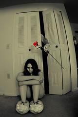 Tall Dark And Creepy (SNUlightphotography) Tags: love me rose loving closet dark scary alone shadows sad fear handsome creepy story angry horror tall lover thursday loved telling hear thorsday