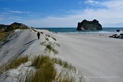 Archway Islands, Wharariki Beach, NZ (flyingkiwigirl) Tags: sea west beach islands golden bay coast collingwood dune limestone cave archway doc wharariki