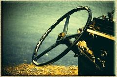 Drive me to the sea (mare_maris) Tags: old sea summer sun seascape car wheel vintage landscape coast warm europe steering jeeps creative utility explore greece coastal nikondigital steeringwheel 2014 oldjeep earlyafternoon  bythecoast  atthecoast autovolante nikond5100 autolenkrad drivemetothesea maremaris exploredonjuly2014 middaygetaways middaygetaway volantedelcoche volantdevoiture oldjeepssteeringwheelbythecoast