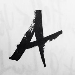 (Monica Galvan) Tags: blackandwhite pen typography blackwhite hand letters sketchbook letter marker alphabet lettering a vsco iphoneography vscocam