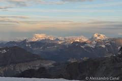 Alba su Monte Bianco e Gran Combin