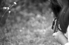 Mary and the Ikoflex (PositiveAboutNegatives) Tags: leica blackandwhite bw slr film analog vintage ikoflex coolscan leicaflex foma 11231 fomapan100 leitz leicar nikon9000 leicaflexsl ikoprox 35mmelmarit