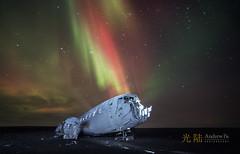 DC3 Dakota Aurora (awhyu) Tags: lights iceland aurora northern dc3 dakota