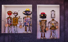 robots = found objects (pbo31) Tags: california summer sculpture color art northerncalifornia nikon september robots bayarea marincounty sausalito waldo laborday northbay 2014 sausalitoartfestival d700