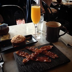 #bacon #coffee #mimosa #coffeecake - I have missed you all so much! :-)