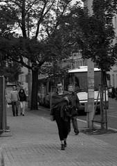 Ricoh TLS 401 with Helios 44-2 -People on Sidewalk (Kojotisko) Tags: street city people streets vintage person czech streetphotography brno cc creativecommons vintagecamera czechrepublic streetphoto persons ricoh fomapan200 helios442 ricohtls401 helios442258 fomapan200creative ricohtls