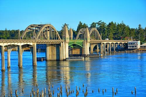 bridge vacation oregon river florence nikon scenic bridges wife oregoncoast hdr highway101 florenceoregon siuslawriver siuslaw gaylene easyhdr nikond7100