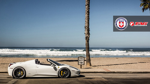 Ferrari 458 Spider With Hre P101 In Satin Black By Tag Motorsports