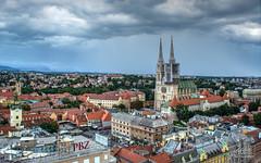 Zagreb - sa vidikovca Zagreb Eye (Milan Z81) Tags: city town cathedral capital croatia zagreb grad viewpoint hrvatska katedrala vidikovac zagrebeye