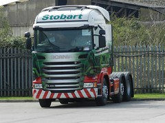 Eddie Stobart Scania awaiting registration, name and fleet number (graham19492000) Tags: eddie scania widnes stobart eddiestobart foundrylane