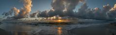 Wake up... (AGP318) Tags: panorama beach clouds sunrise sand waves florida atlanticocean indianharbourbeach nikond7100