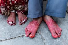 Their feet - Varanasi Wedding #1 (AMNewman) Tags: street travel wedding india colour 35mm asia fuji varanasi uttarpradesh x100s