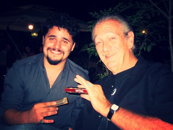 Charlie Musselwhite with Riccardo Grosso