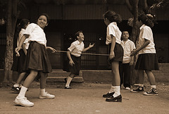 NIC-Esteli-0808-0606-bw2 (anthonyasael) Tags: unicef school girls boy people white playing latinamerica boys girl smile smiling kids yard america children fun outside happy kid jump jumping friend funny uniform child friendship outdoor joy group happiness rope latin leisure nicaragua latino schoolchildren activity nic schoolgirl enjoying schooluniform primaryschool skippingrope centralamerica participate schoolboy schoolchild schoolyard esteli cfs youngboy participating elementarystudent childrenonly ropejumping elementaryage stephanierabemiafara childfriendlyschool unicefprogram