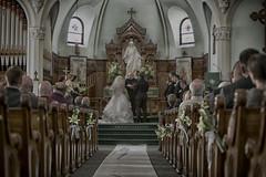 A different View. (K McGuckin) Tags: flowers wedding lake church water field photography groom bride highheels photographer ring heels weddingparty dip wedingband