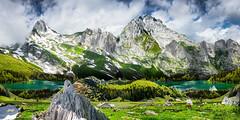 Digiart_altmann_saentis_seealpsee (Blochmäntig) Tags: switzerland schweiz snow seealpsee swissalps swissmountains swisslandscape swiss swissfolklore mountain mountainview mountainlake mountainpanorama hiking trekking climbing clouds bluesky