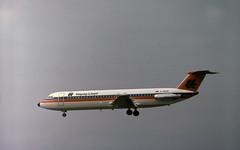 D-ANUE Hapag-Lloyd BAC 1-11 528FL on final approach to Frankfurt (heathrow.junkie) Tags: frankfurt danue bac111 hapaglloyd