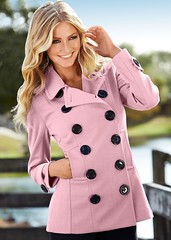 Big Button Jacket (betrenchcoated) Tags: jacket doublebreasted buttons big beautifulgirl buttoned peacoat