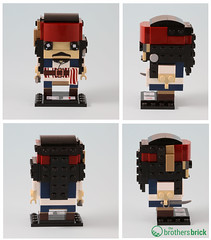 41593 Captain Jack Sparrow and 41594 Captain Armando Salazar (The Brothers Brick) Tags: lego pirates caribbean potc brickheadz 2017 dead men tell no tales review 41594 41593 captain jack sparrow armando salazar